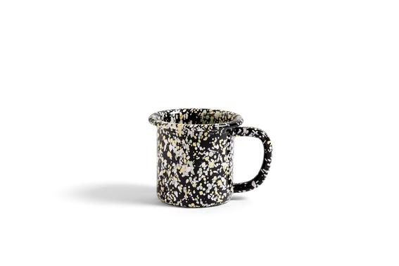 Enamel Mug Sprinkle black