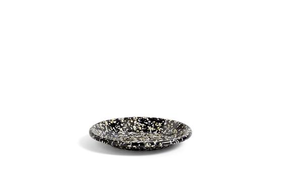 Enamel Dish Sprinkle black